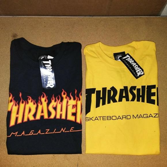 30cf4bd8396e Thrasher Shirts | Dark Blue Gold Yellow | Poshmark